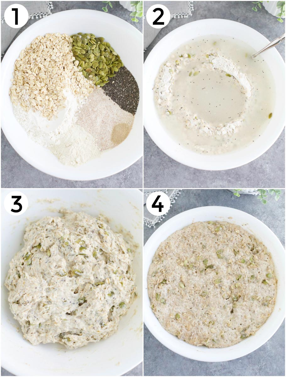 A photo collage showing how to make the recipe step by step.