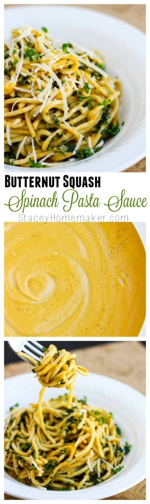 butternut squash spinach pasta sauce