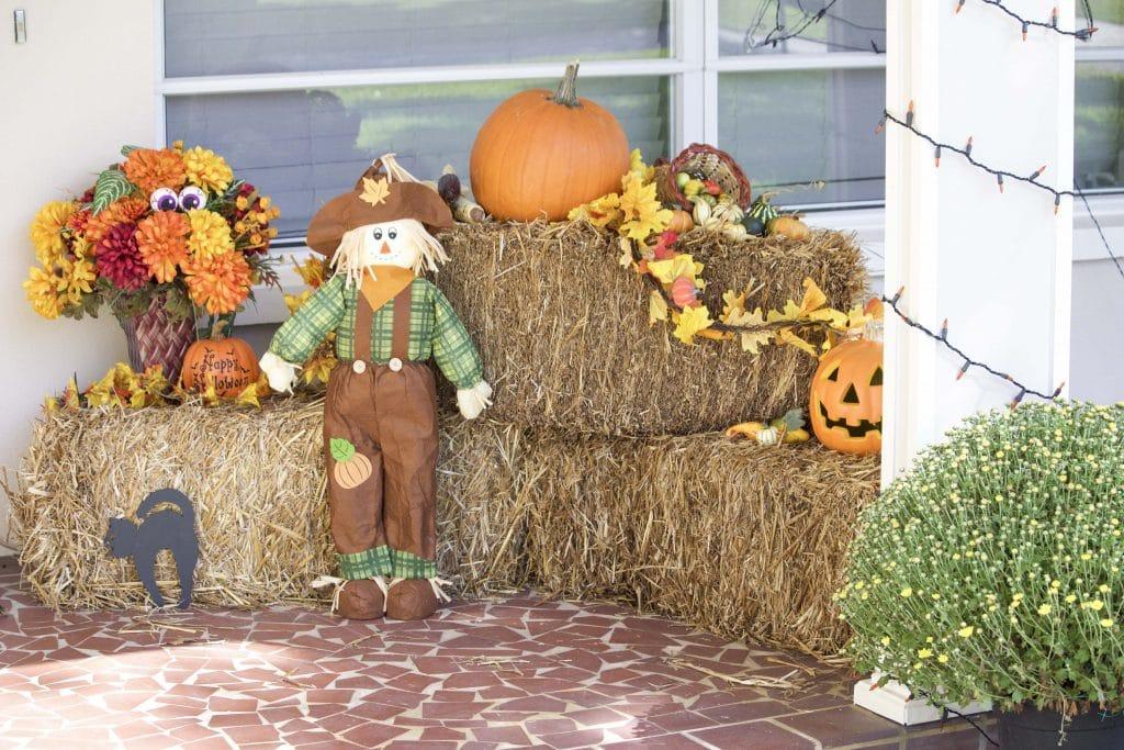 front porch fall decorations. Black Bedroom Furniture Sets. Home Design Ideas