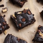 Flourless, chocolate peanut butter chunk black bean brownies that will change your life! No granulated sugar, butter or flour but they taste extra fudgy and indulgent! Kids and adult friendly dessert, gluten-free, dairy-free, vegetarian.