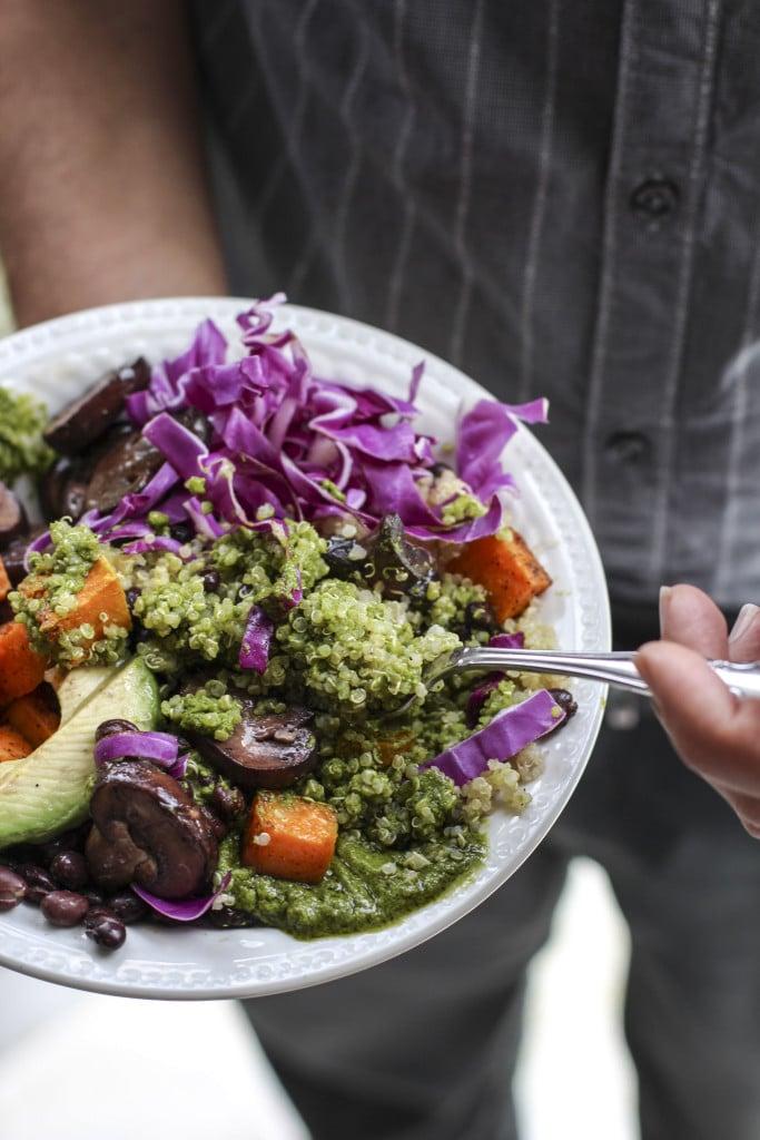 vegetarian skinny quinoa bowl