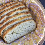 Cheesy no-knead cheddar onion bread is my favorite bread to use for toast & sandwiches! Only 5 minutes of hands on prep!