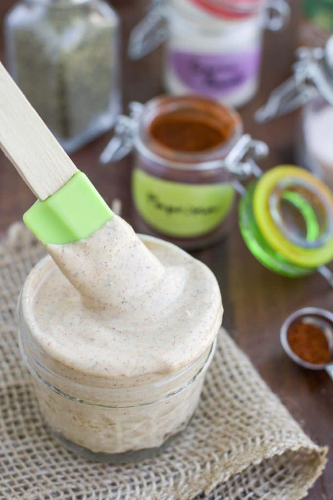 We put this southwest ranch greek yogurt sauce on burgers, wraps, and sandwiches!