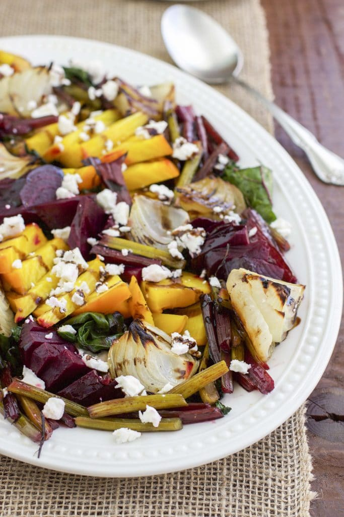 Roasted beet & onion salad with feta & balsamic 1