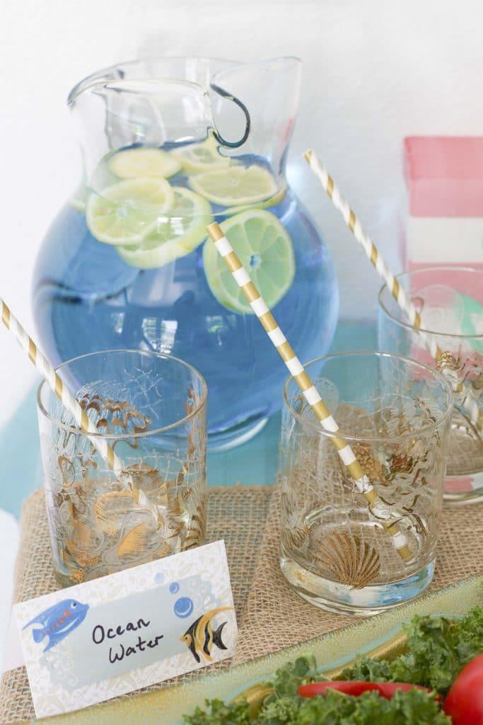 ocean water blue lemonade