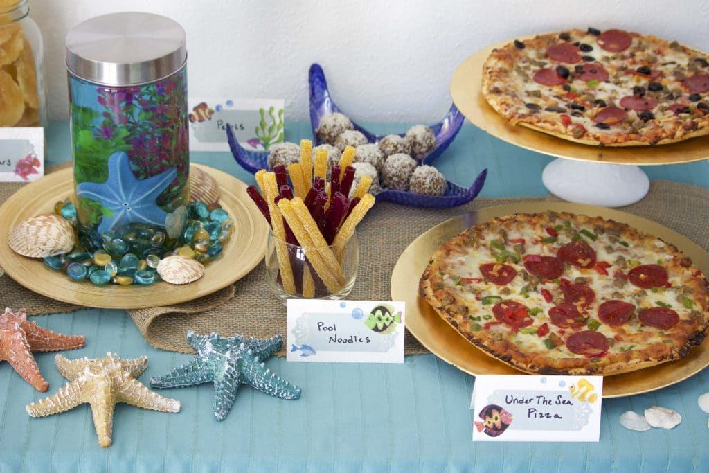 under the sea food & party decorations