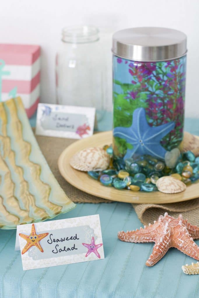 under the sea party food labels