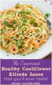 Healthy cauliflower Alfredo sauce