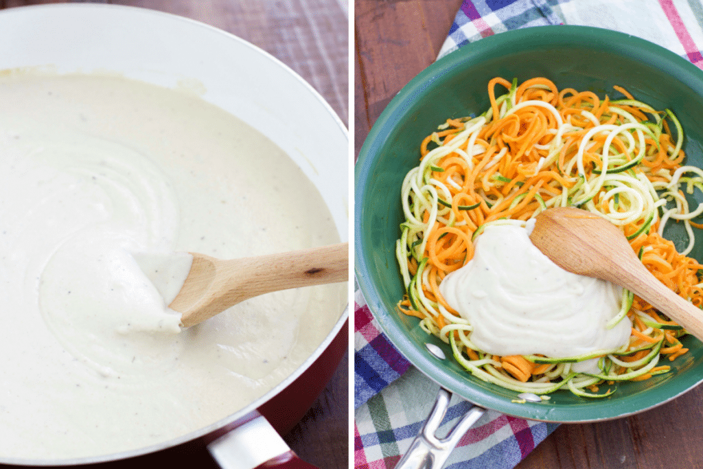 cauliflower cashew cream sauce