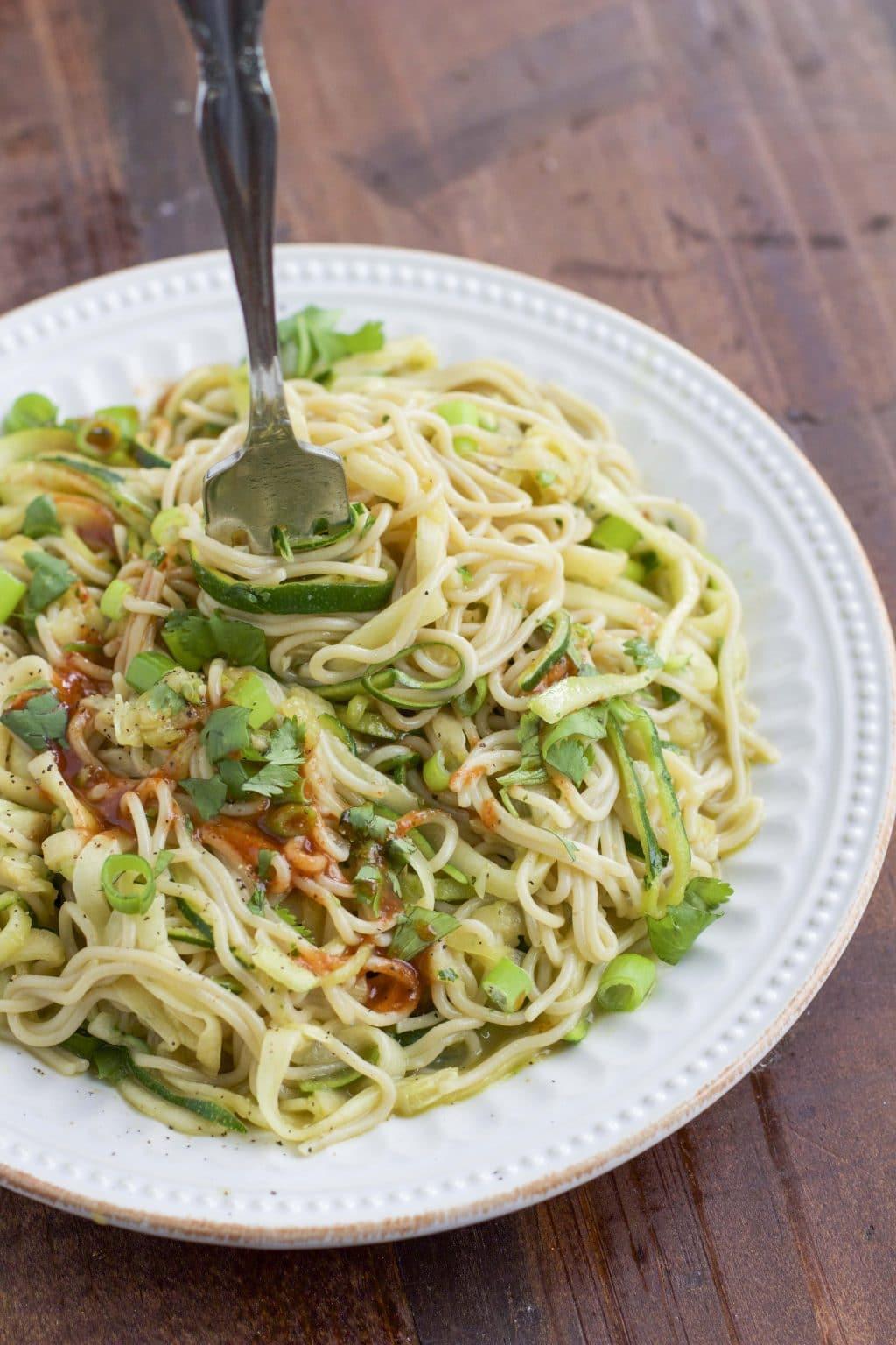 Millet & Brown Rice Zucchini Ramen Noodle Bowl