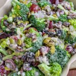 Vegan broccoli salad no mayo