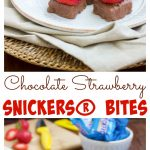 Make these super quick & easy chocolate strawberry SNICKERS® bites for a game day snack!