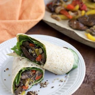 Roasted Veggie Wraps