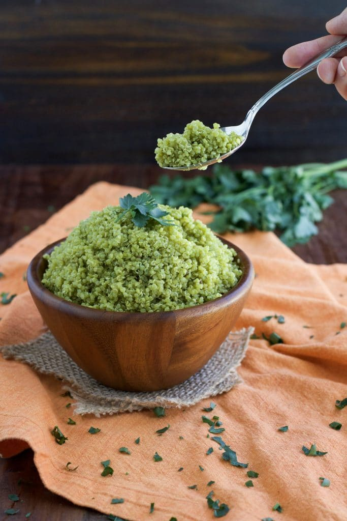 We love this zesty cilantro lime quinoa side dish with vegan sloppy joe's, tacos, burritos, sandwiches, and wraps!