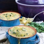 If you're having a cheese craving, you NEED to try this vegan broccoli cheese soup recipe! It's so cheesy and creamy...pure comfort food! Dairy-free & gluten-free.
