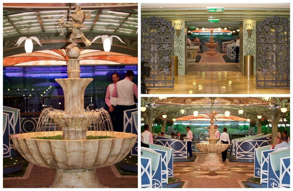 A photo collage showing pictures of the inside of Enchanted Garden.