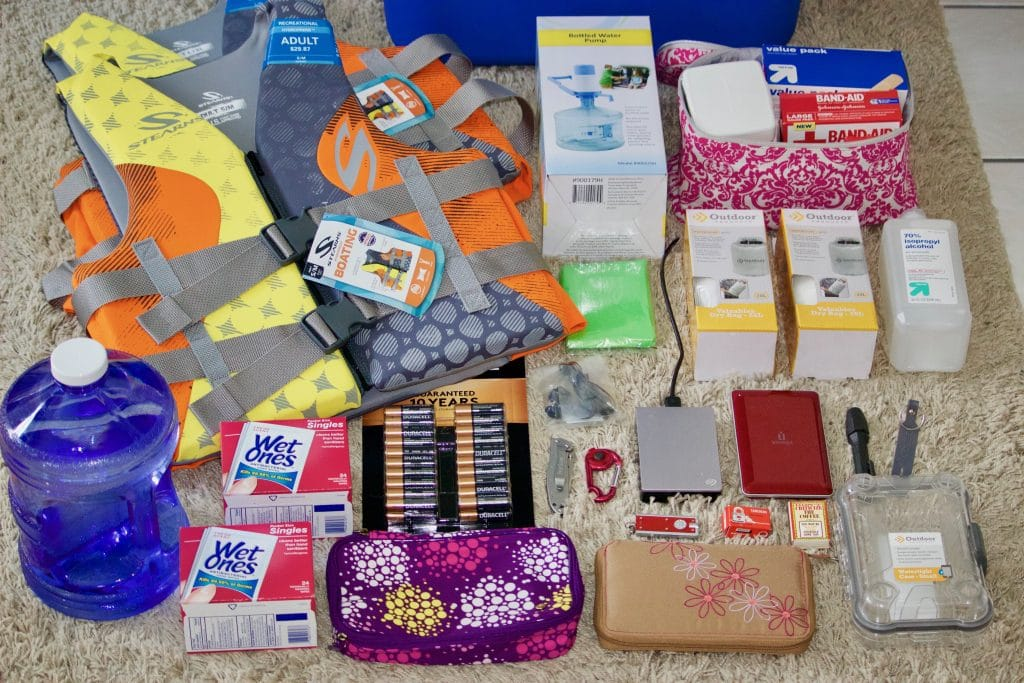 All types of items that you should keep in your hurricane emergency kit.