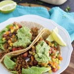 This walnut quinoa vegan taco meat recipe is my family's favorite taco filling for Taco Tuesday! It has so much flavor and it's so good for you! Vegan, dairy-free, gluten-free.