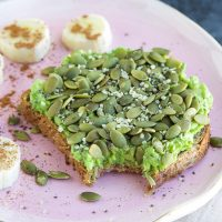 Classic avocado toast that's loaded with 26 grams of complete protein will be your go-to breakfast from now on!