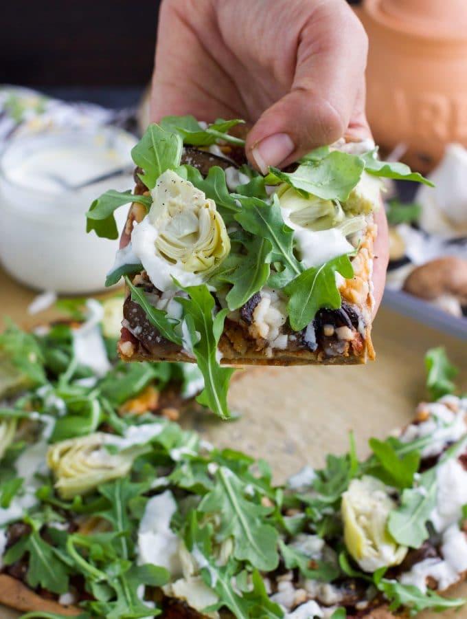 Vegan Quinoa Pizza Crust