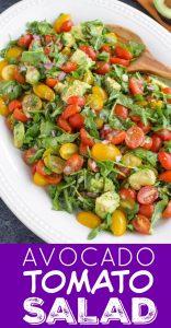 Avocado Arugula Tomato Salad