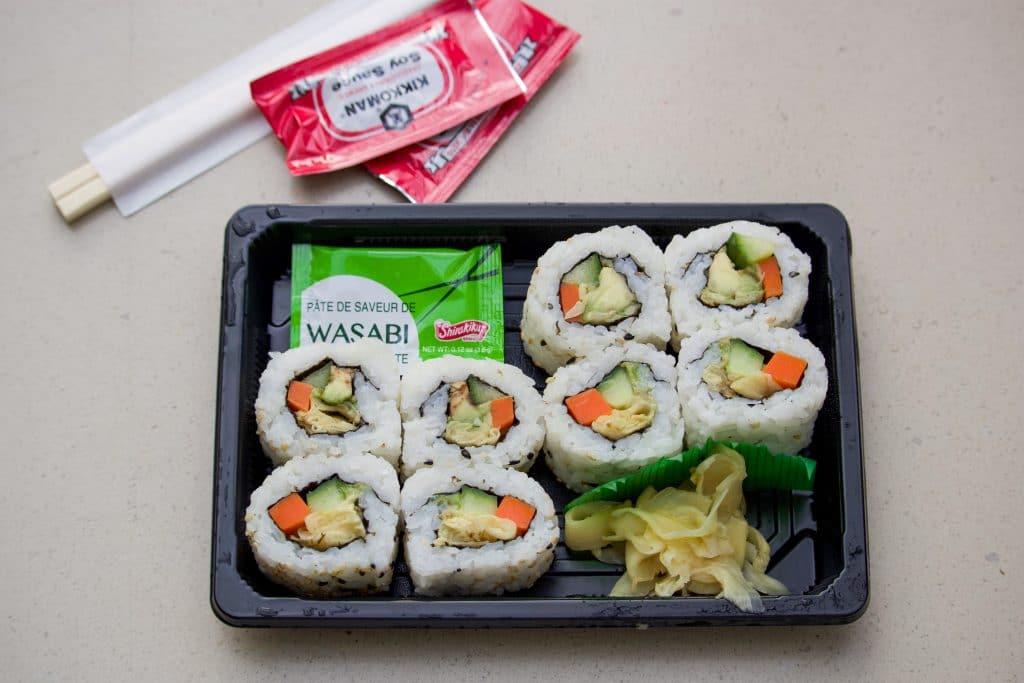 Vegan sushi at Katsura Grill