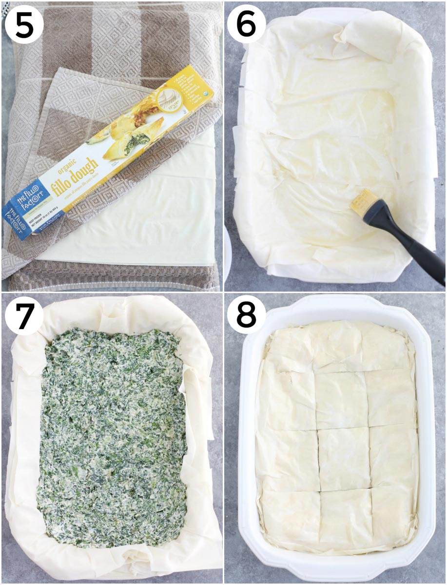 A photo collage showing the last 4 steps to make this recipe.