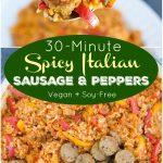 Vegan Italian Sausage and Peppers Recipe