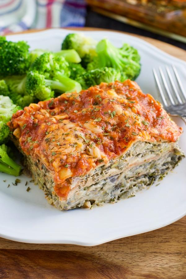 Super Creamy Spinach Artichoke Lasagna