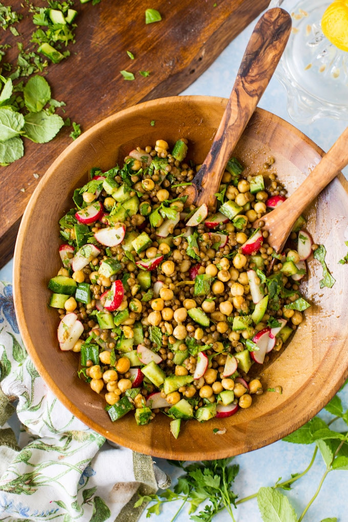 Roasted Herb & Lentil Salad