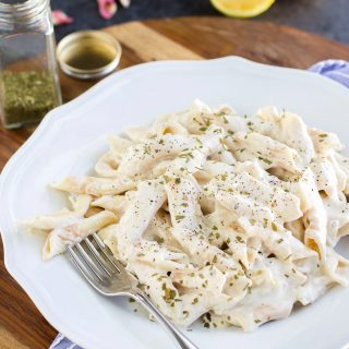 Vegan Alfredo Sauce with Noodles