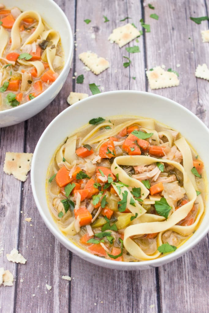 "Instant Pot or Stovetop Jackfruit ""Chicken"" Noodle Soup"