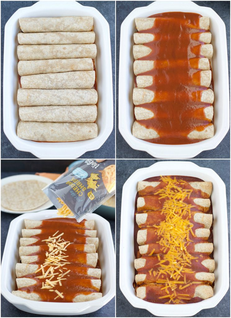 How to make vegan enchiladas in just a few easy steps.