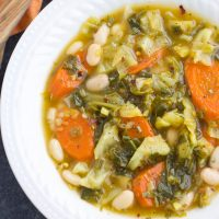 Vegetarian Cabbage Soup with Carrots