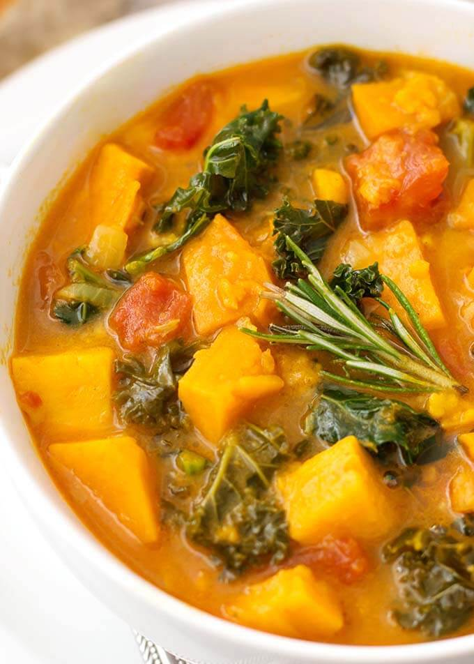 Instant Pot Sweet Potato Kale Soup