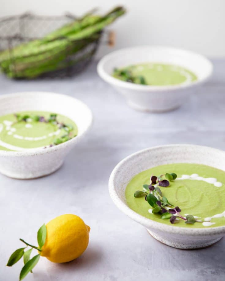 Vegan Cream of Asparagus Soup | Sprouts And Krauts