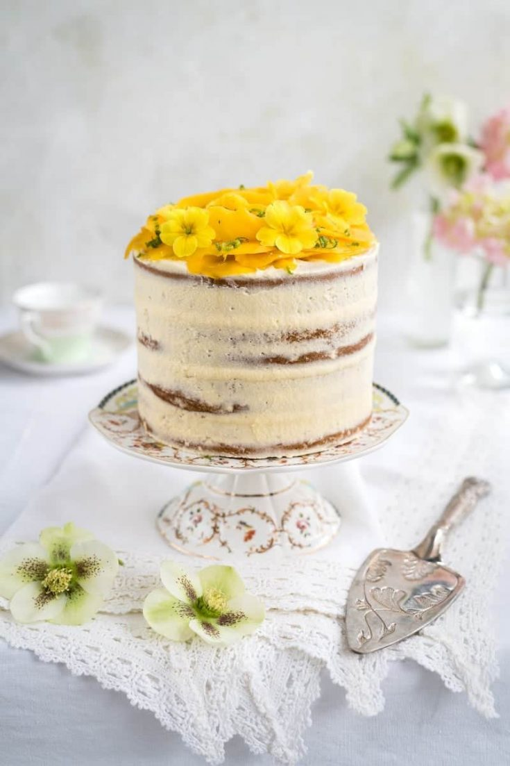 Vegan tropical celebration cake | Supergolden Bakes