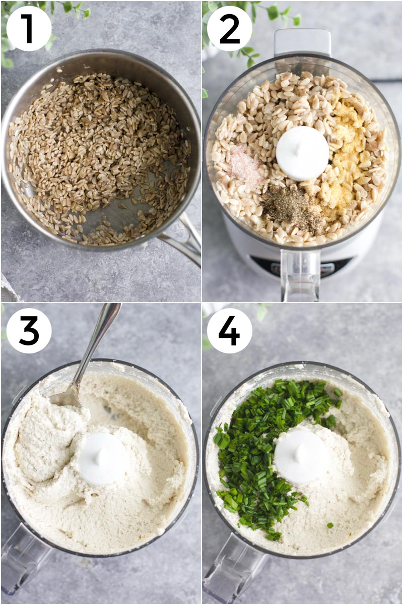 A collage of photos showing how to make the recipes in 4 easy steps.